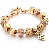 Armband Eternal -  Golden/Rosa