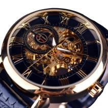 Armbanduhr Gold Skeleton - Schwarz/Golden