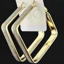 Ohrringe Square Charm - Golden
