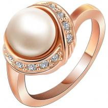 Ring Bridal Pearl - Golden/59mm