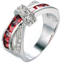 Ring Divine - Silber/Rot - 67,2mm