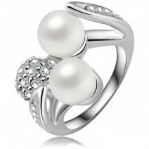 Ring Shell Pearl - Silber/57mm