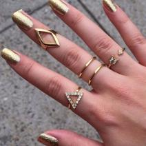 Set - Ringe Antic (5 Stk.) - Golden