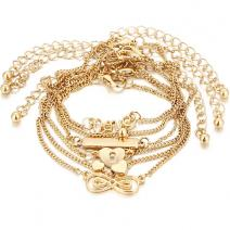 Set - Armbänder Crazy - Golden