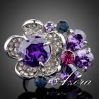 Ring Flower AZORA - Violett
