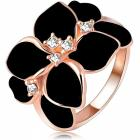 Ring Leaf Flower - Schwarz/57mm