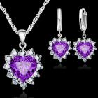 Set Zircon Heart - Violett