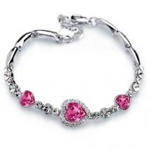 Armband Pink Heart - Silber/Rosa