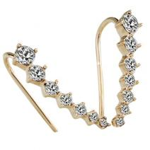 Ohrringe Rhinestone bow - Golden