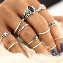 Set - Ringe Greece - Silber