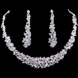 Set Wedding Crystal - Silber